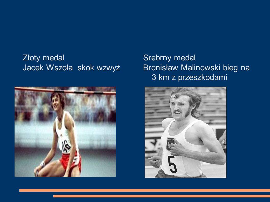 Złoty medal Jacek Wszoła skok wzwyż. Srebrny medal.