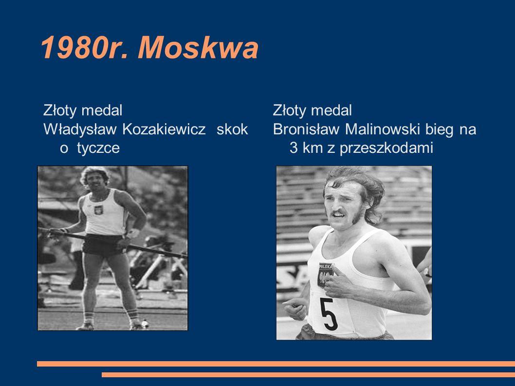 1980r. Moskwa Złoty medal Władysław Kozakiewicz skok o tyczce