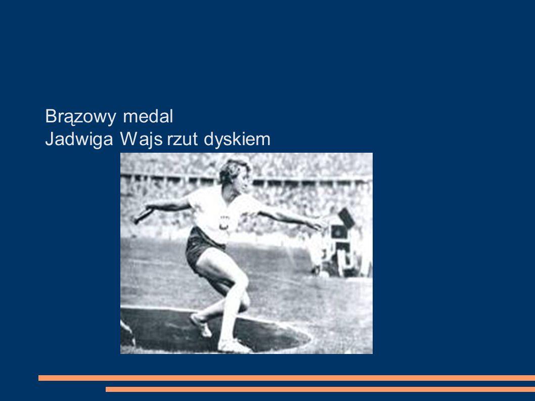 Brązowy medal Jadwiga Wajs rzut dyskiem