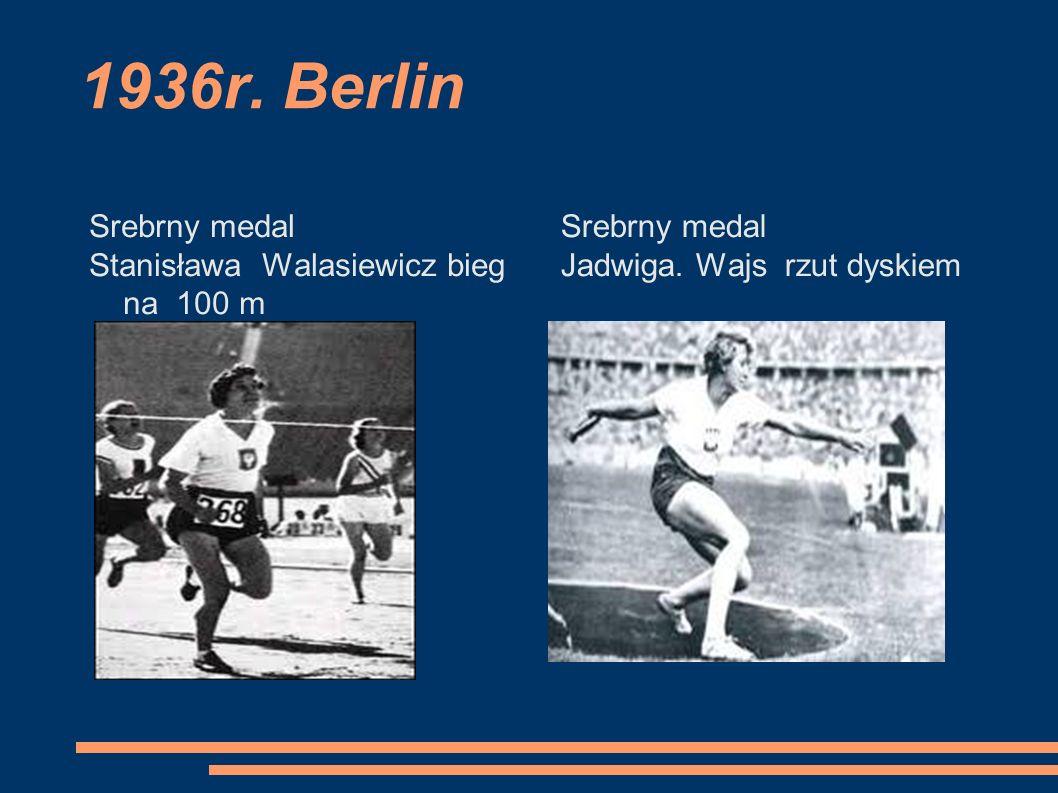 1936r. Berlin Srebrny medal Stanisława Walasiewicz bieg na 100 m