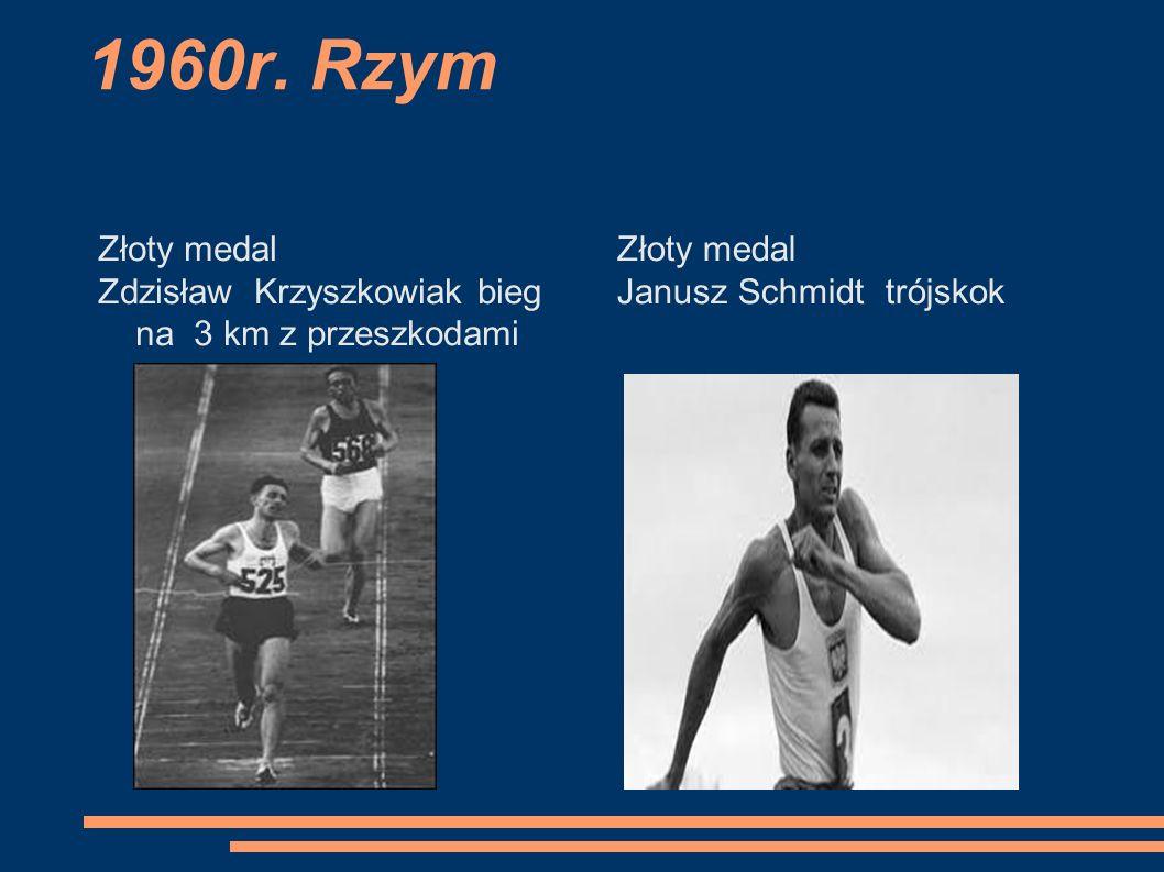 1960r. Rzym Złoty medal. Zdzisław Krzyszkowiak bieg na 3 km z przeszkodami.