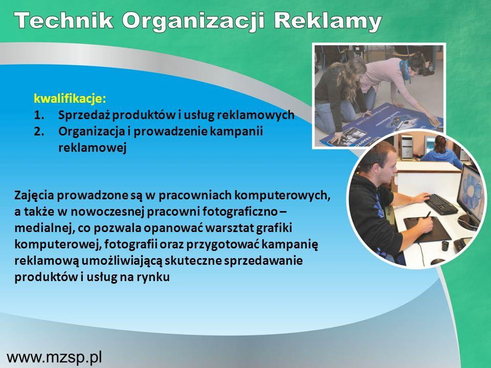 kwalifikacje: Sprzedaż produktów i usług reklamowych. Organizacja i prowadzenie kampanii reklamowej.