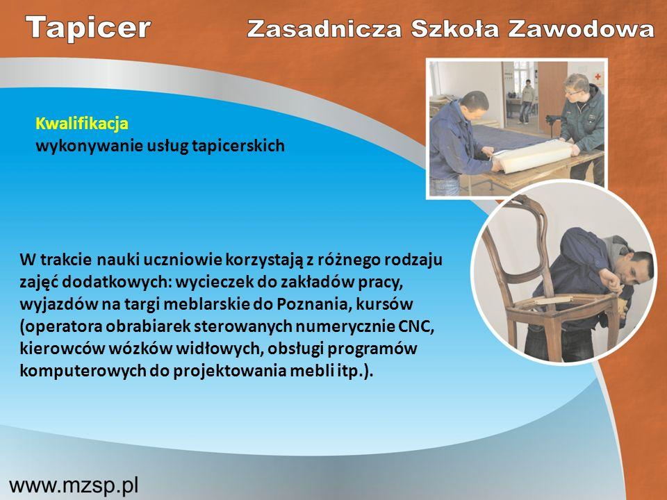 Kwalifikacja wykonywanie usług tapicerskich.