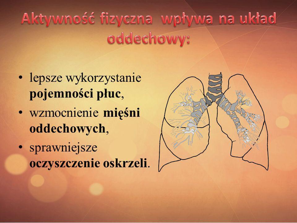Aktywność fizyczna wpływa na układ oddechowy: