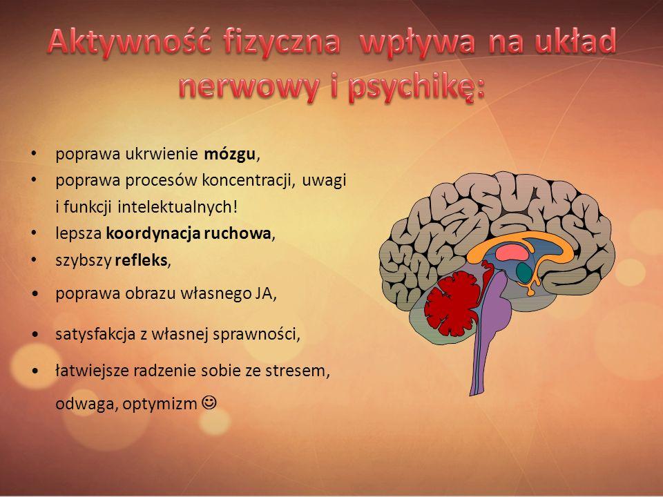 Aktywność fizyczna wpływa na układ nerwowy i psychikę: