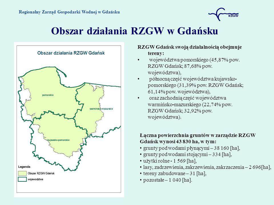 Obszar działania RZGW w Gdańsku