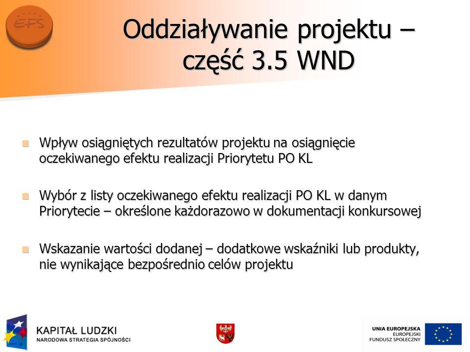 Oddziaływanie projektu – część 3.5 WND