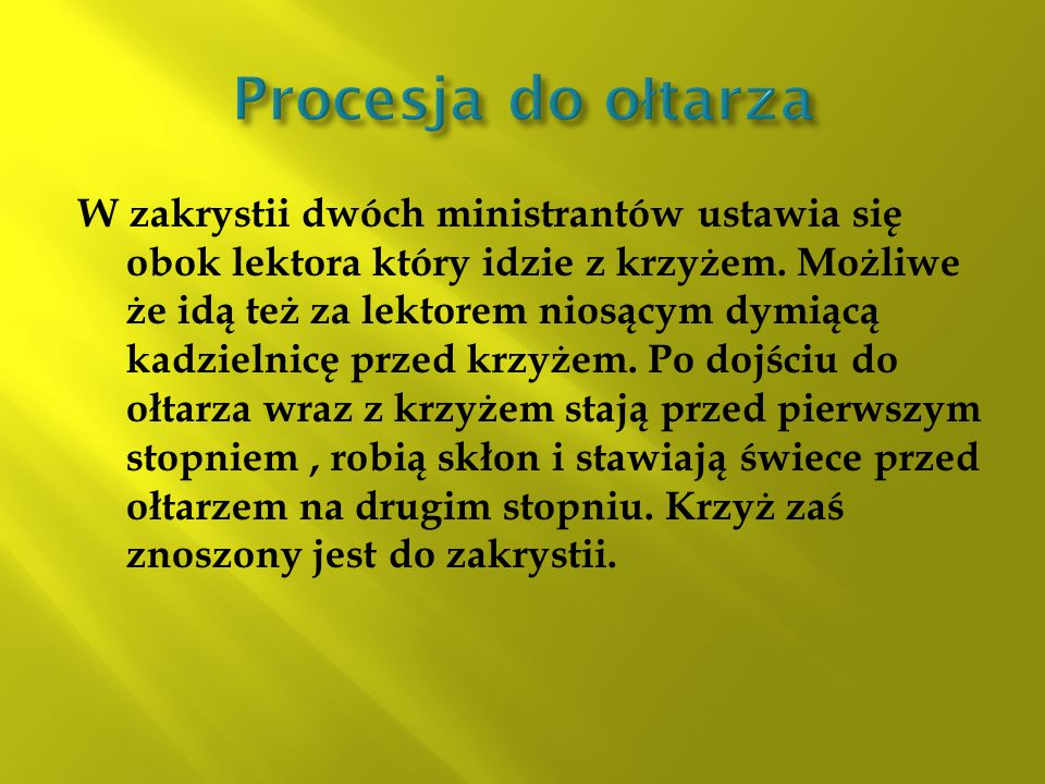 Procesja do ołtarza