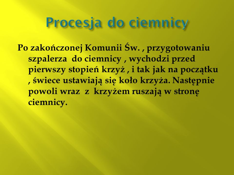 Procesja do ciemnicy