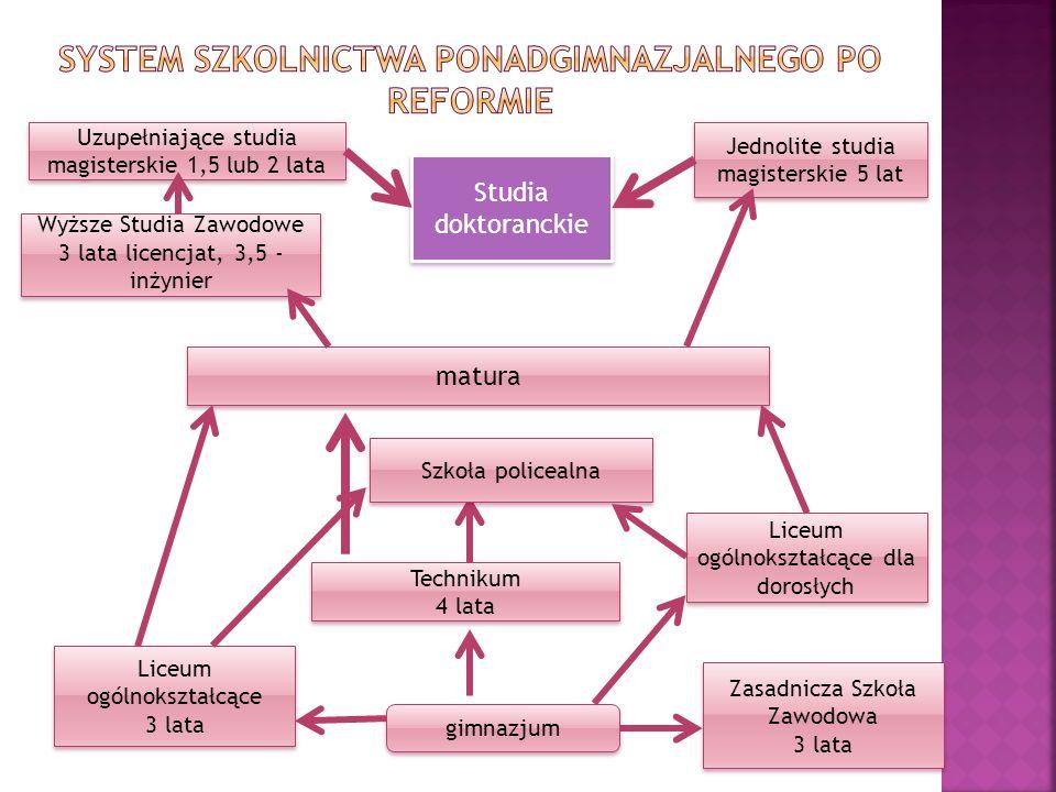 System szkolnictwa ponadgimnazjalnego po reformie