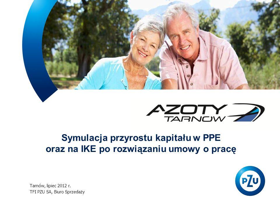 Tarnów, lipiec 2012 r. TFI PZU SA, Biuro Sprzedaży