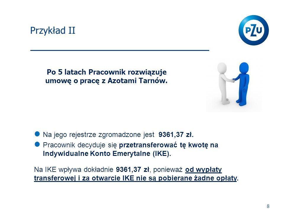 Po 5 latach Pracownik rozwiązuje umowę o pracę z Azotami Tarnów.