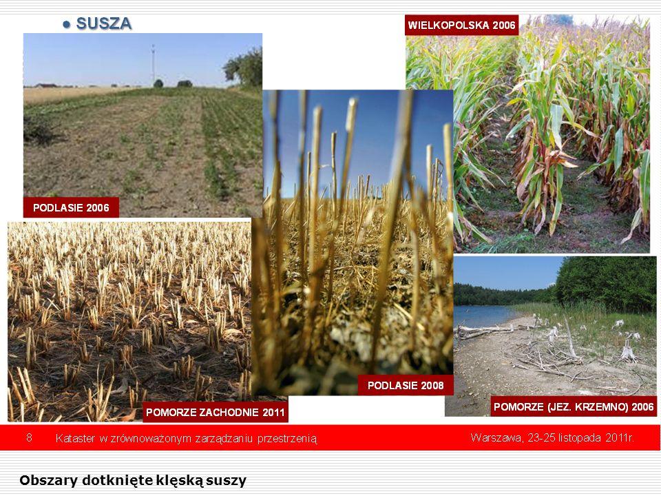 Obszary dotknięte klęską suszy