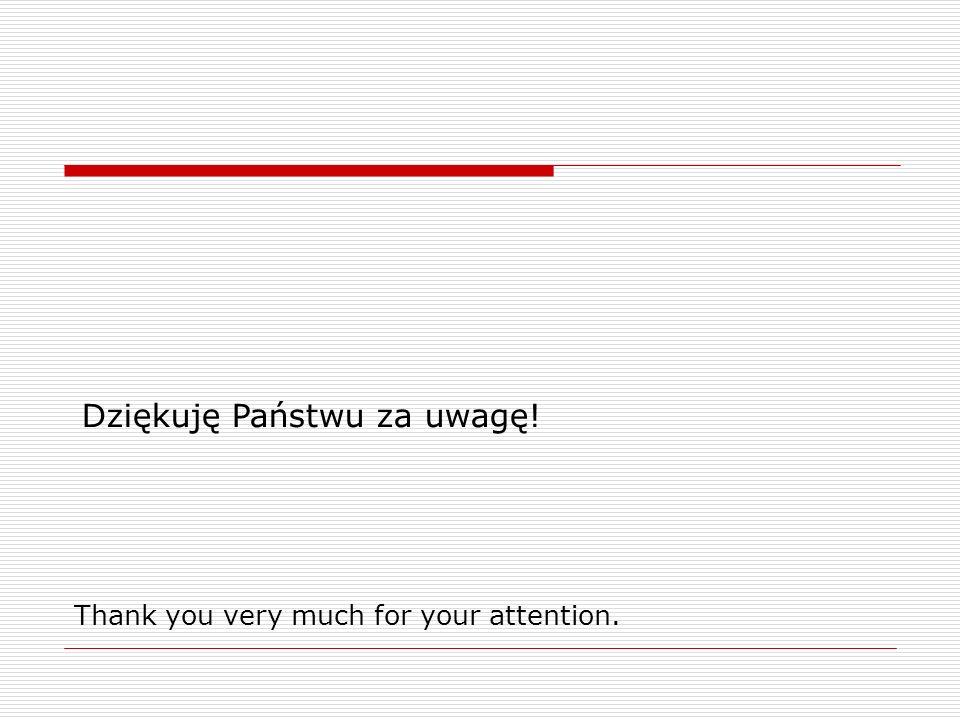 Dziękuję Państwu za uwagę!