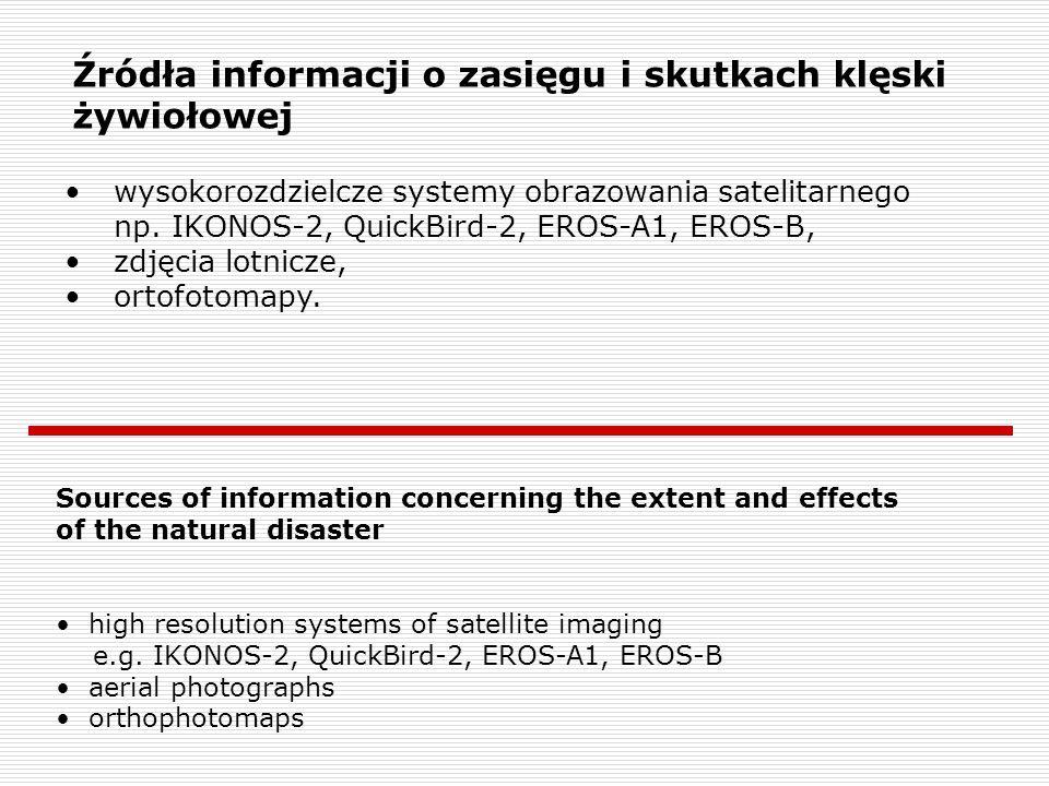 Źródła informacji o zasięgu i skutkach klęski żywiołowej