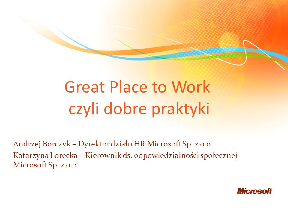 Great Place to Work czyli dobre praktyki