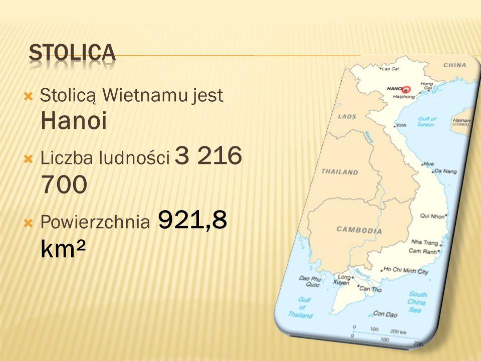 Stolica Stolicą Wietnamu jest Hanoi Liczba ludności 3 216 700