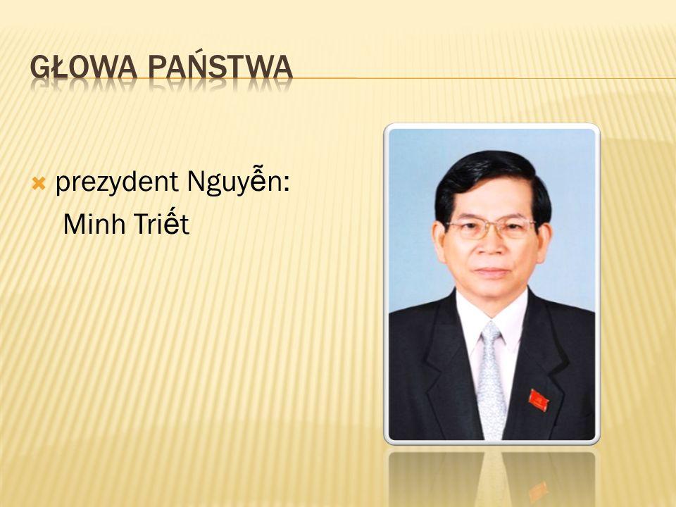 Głowa państwa prezydent Nguyễn: Minh Triết