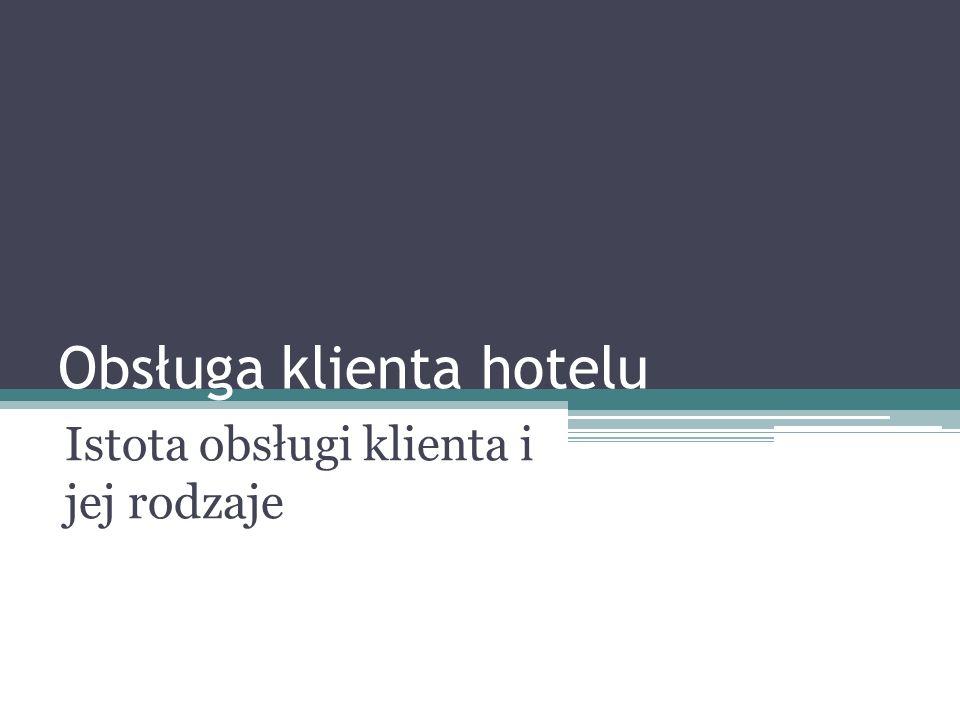 Obsługa klienta hotelu