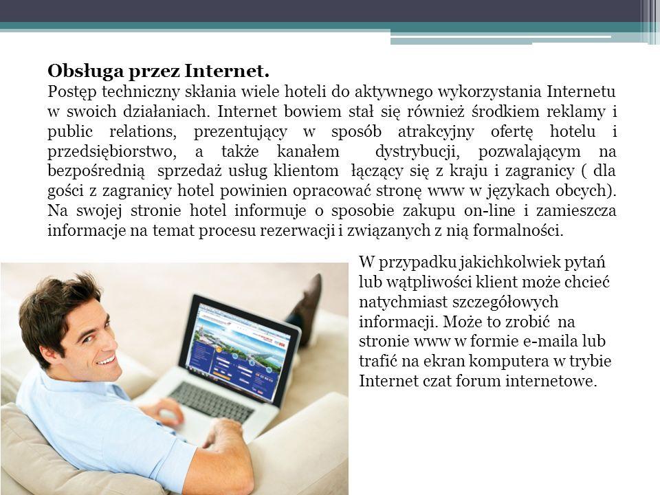 Obsługa przez Internet.