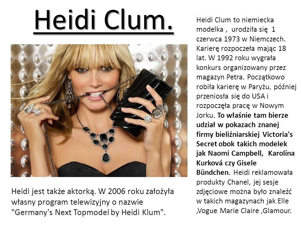 Heidi Clum.