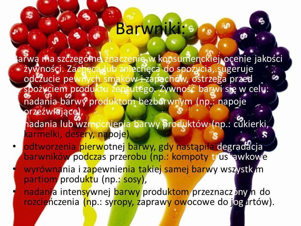 Barwniki: