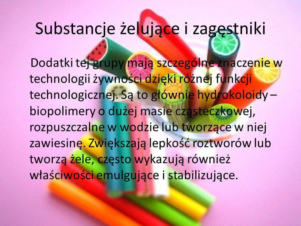 Substancje żelujące i zagęstniki
