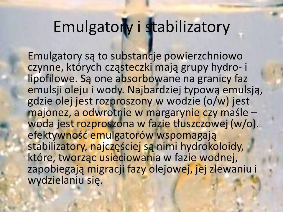 Emulgatory i stabilizatory
