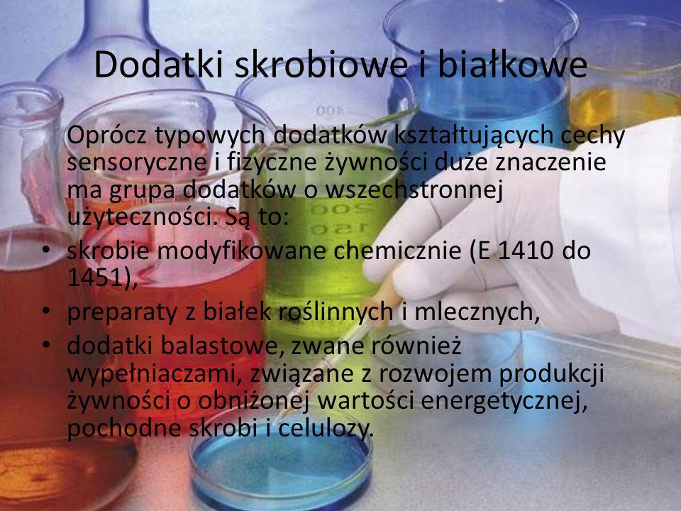 Dodatki skrobiowe i białkowe