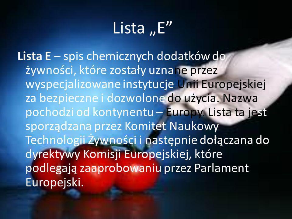 """Lista """"E"""