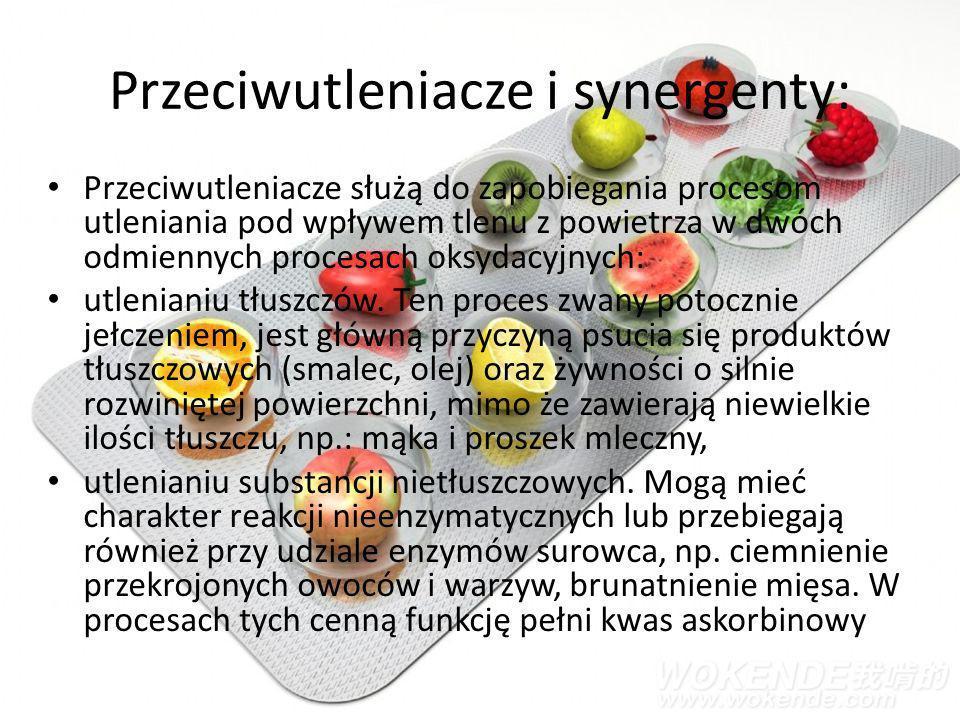 Przeciwutleniacze i synergenty: