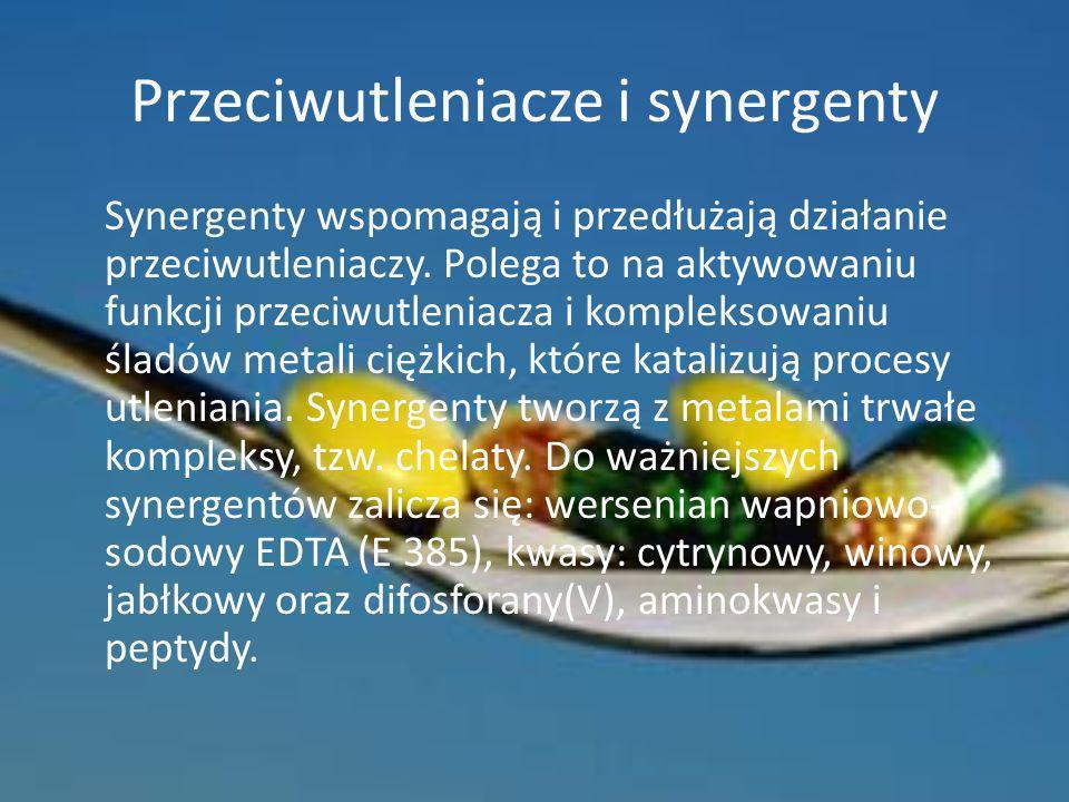Przeciwutleniacze i synergenty