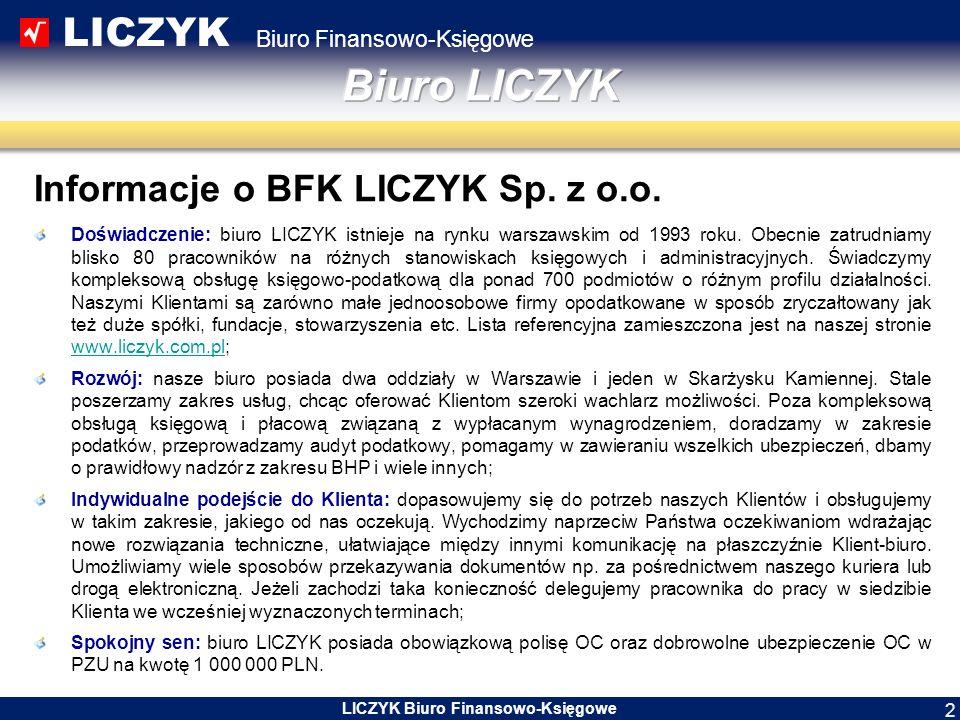 LICZYK Biuro Finansowo-Księgowe