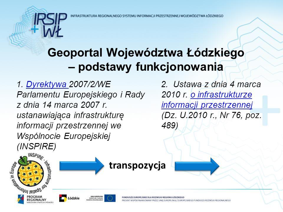 Geoportal Województwa Łódzkiego – podstawy funkcjonowania
