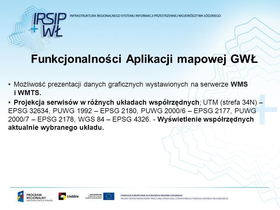 Funkcjonalności Aplikacji mapowej GWŁ
