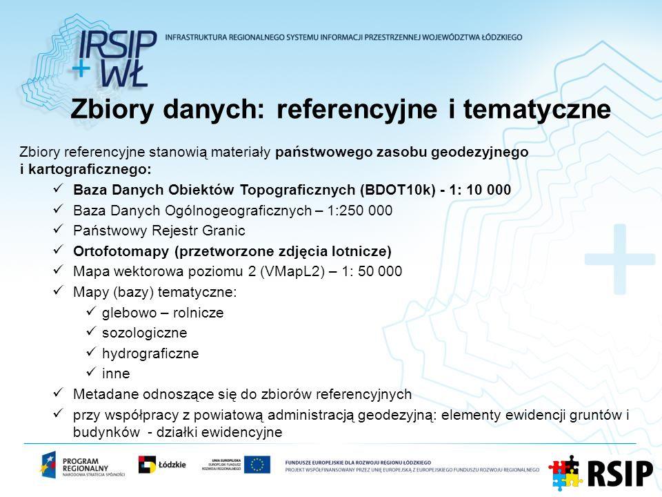 Zbiory danych: referencyjne i tematyczne