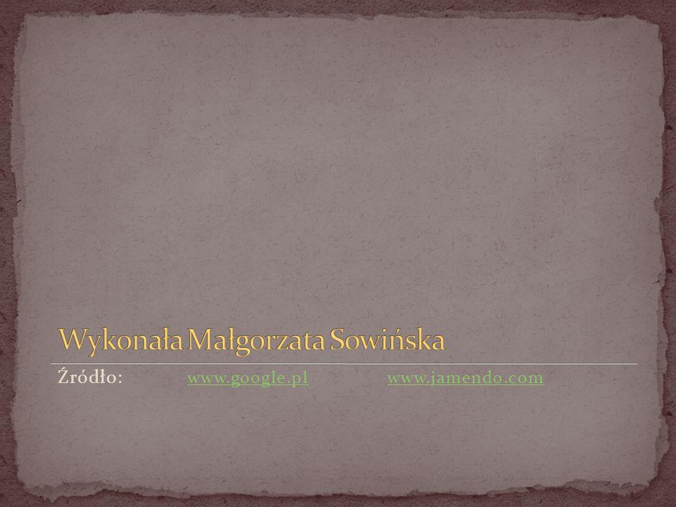 Wykonała Małgorzata Sowińska
