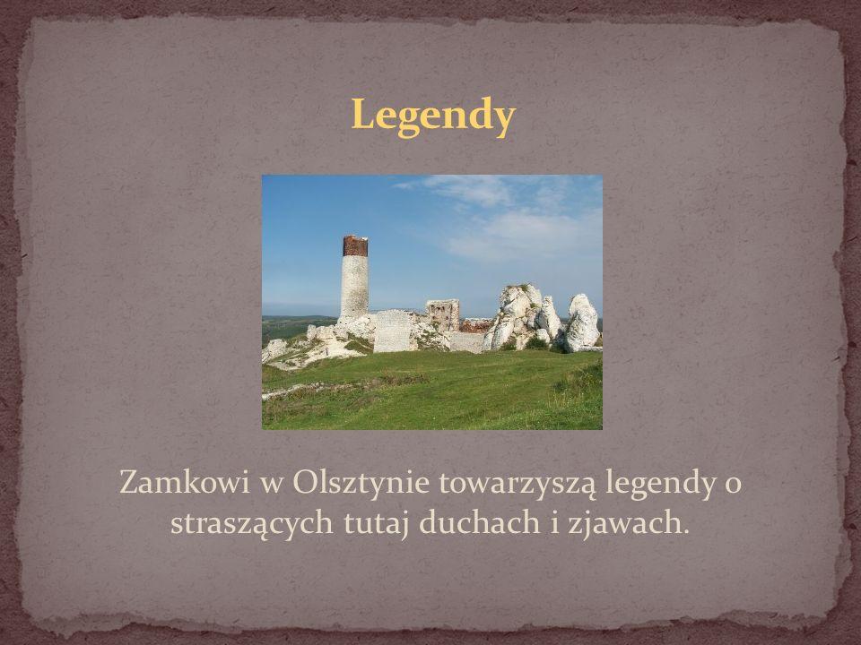 Legendy Zamkowi w Olsztynie towarzyszą legendy o straszących tutaj duchach i zjawach.