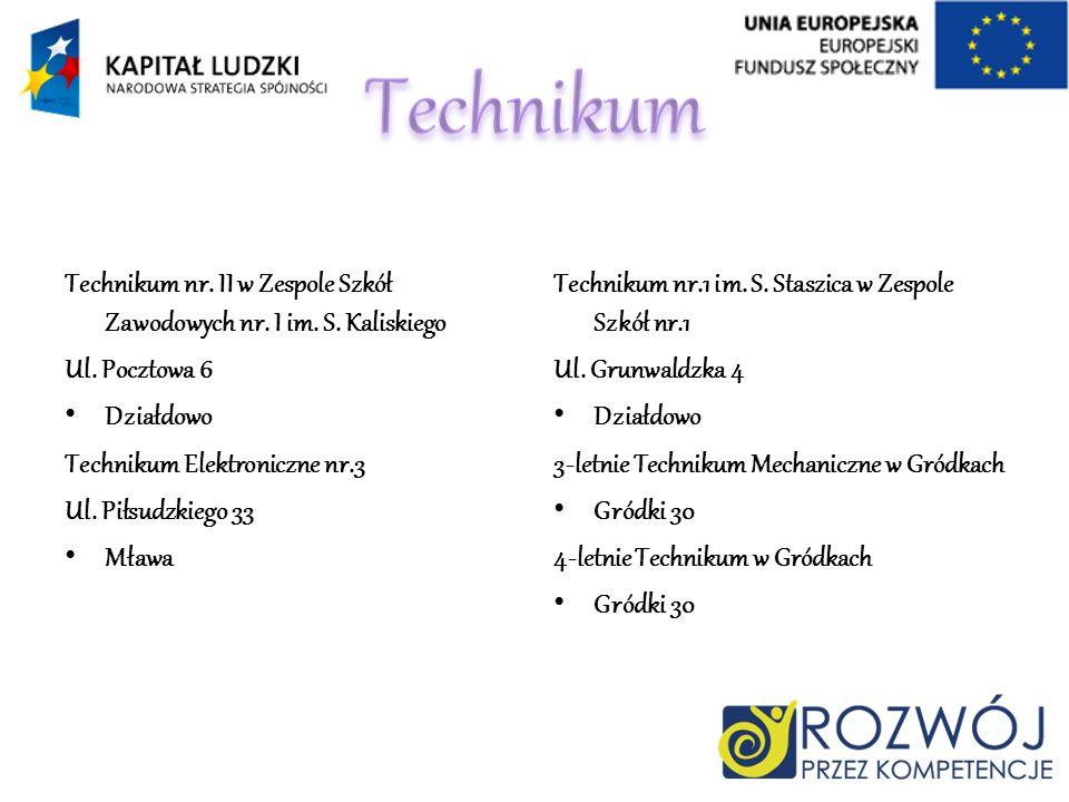 Technikum Technikum nr. II w Zespole Szkół Zawodowych nr. I im. S. Kaliskiego. Ul. Pocztowa 6. Działdowo.