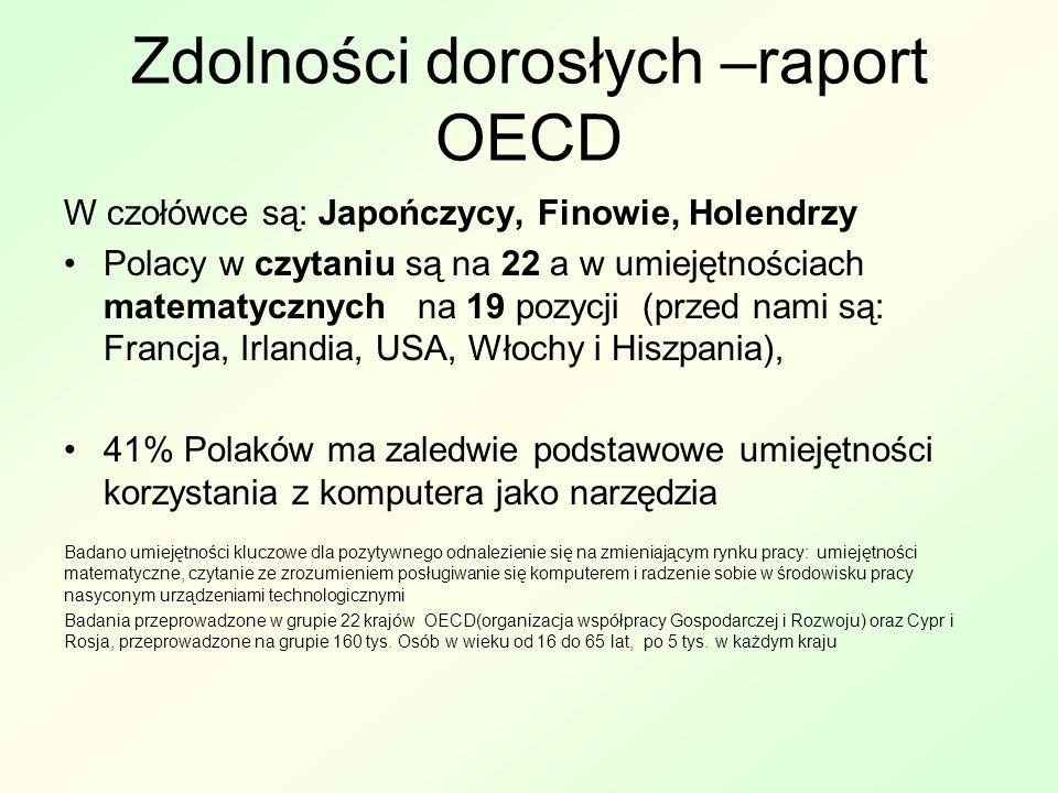 Zdolności dorosłych –raport OECD