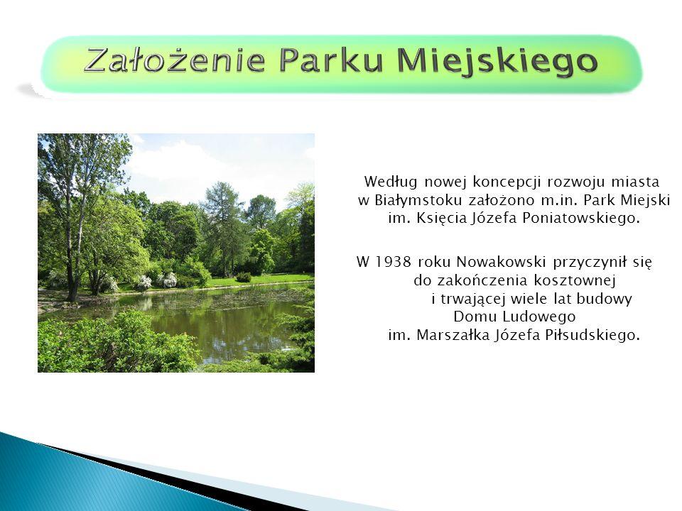 Założenie Parku Miejskiego