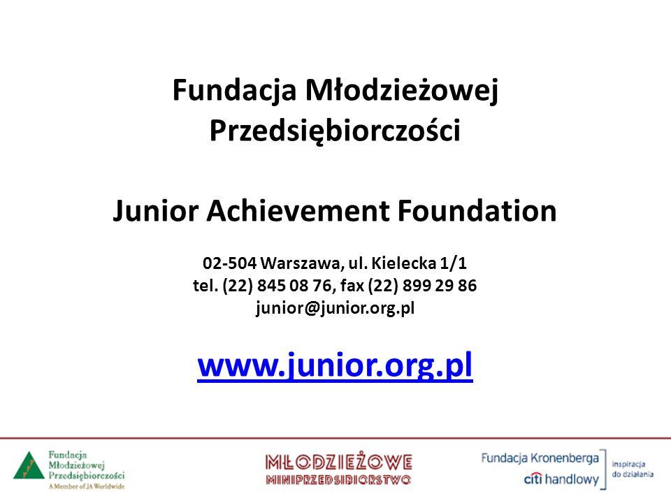 www.junior.org.pl Fundacja Młodzieżowej Przedsiębiorczości