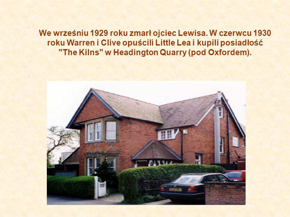 We wrześniu 1929 roku zmarł ojciec Lewisa