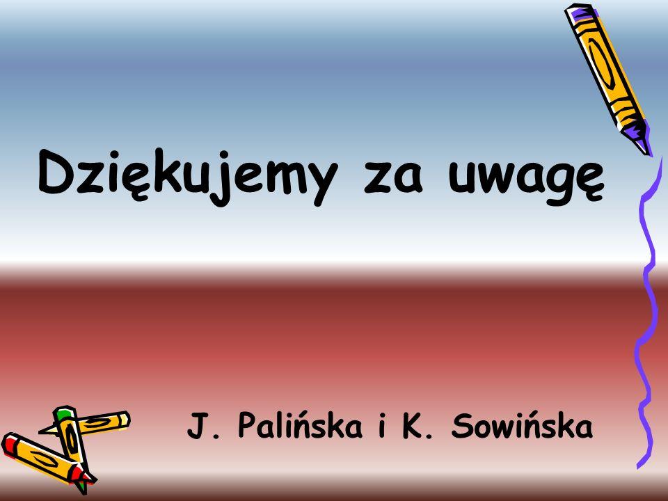Dziękujemy za uwagę J. Palińska i K. Sowińska