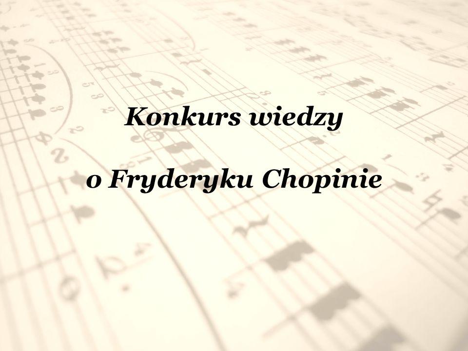 Konkurs wiedzy o Fryderyku Chopinie