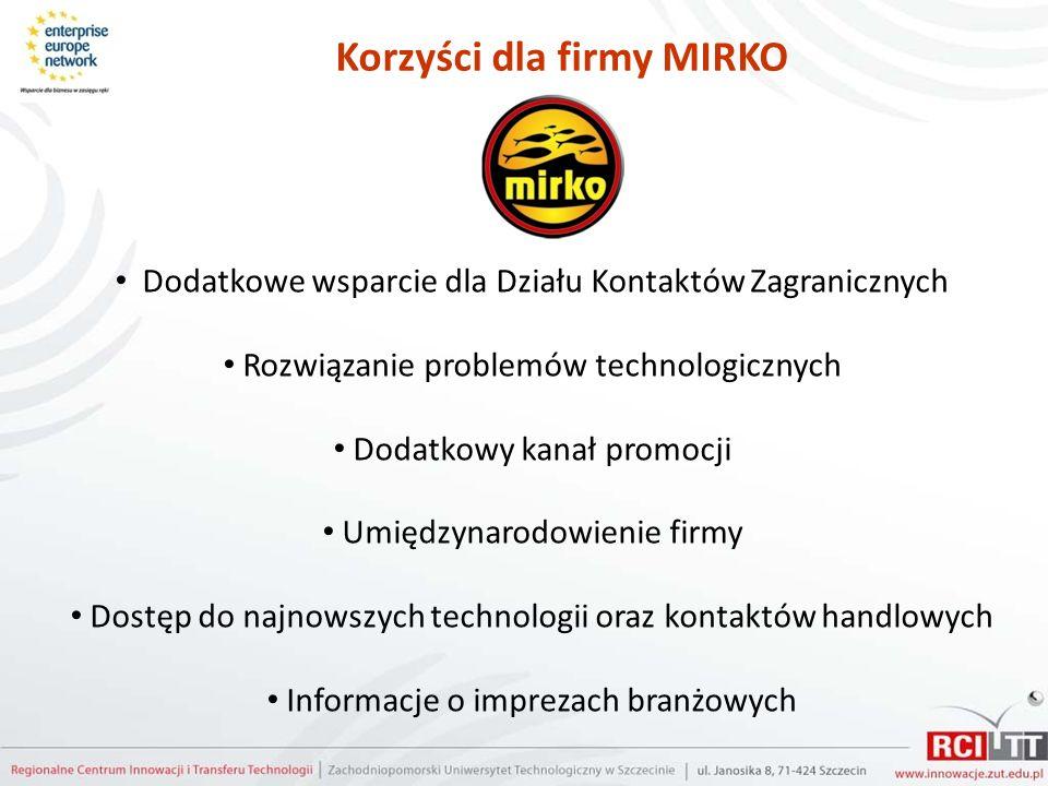 Korzyści dla firmy MIRKO