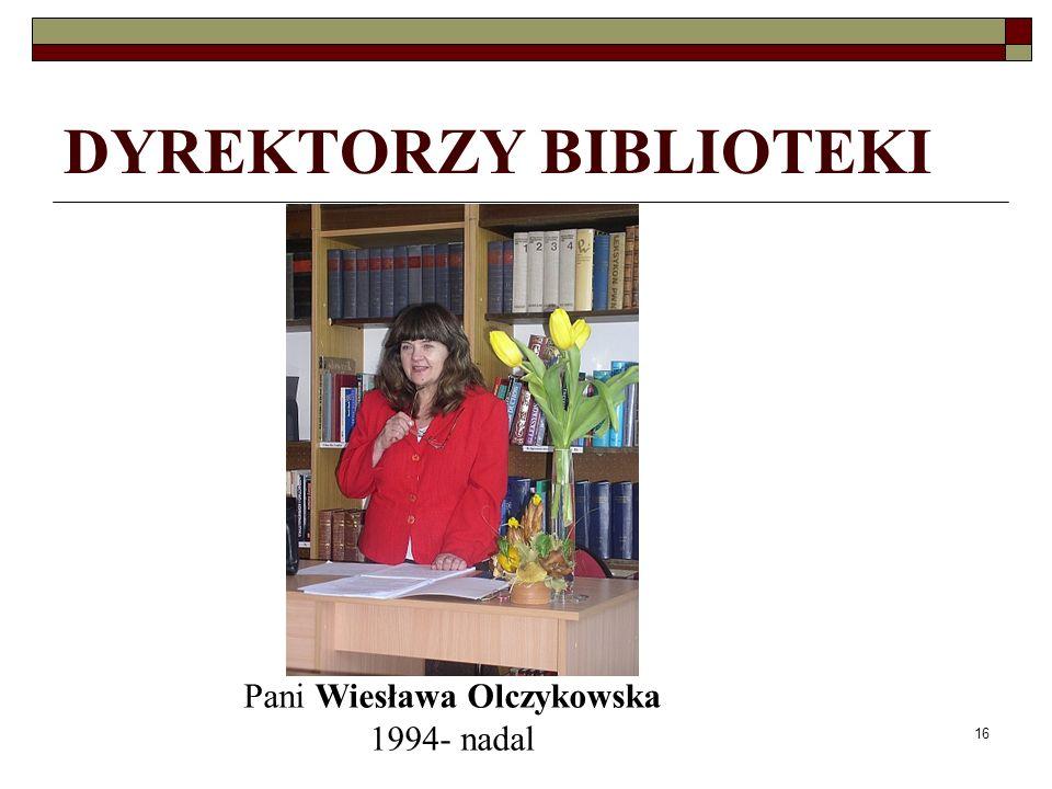 DYREKTORZY BIBLIOTEKI