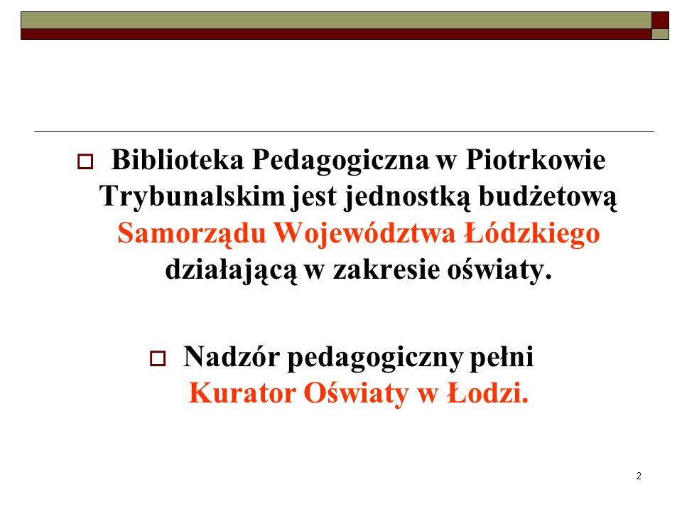Nadzór pedagogiczny pełni Kurator Oświaty w Łodzi.