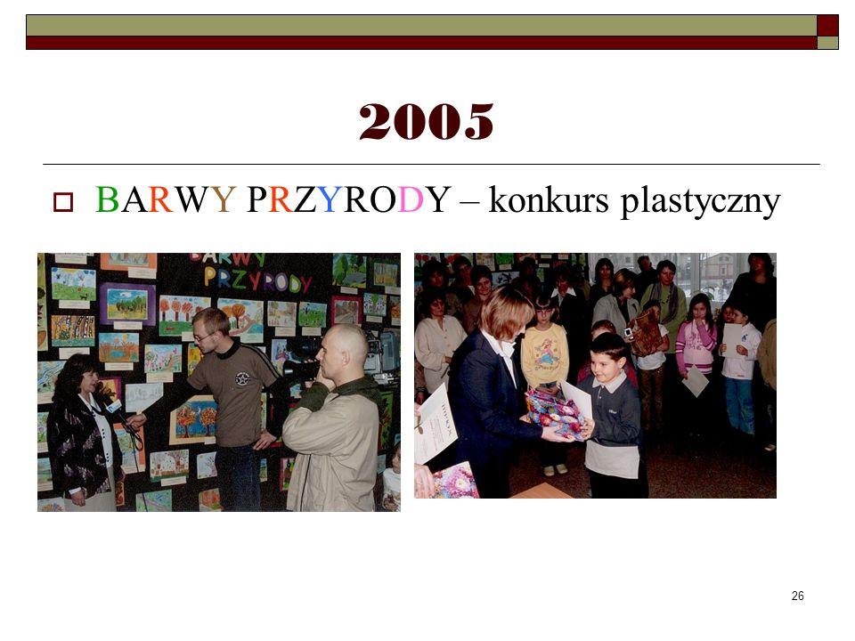 2005 BARWY PRZYRODY – konkurs plastyczny