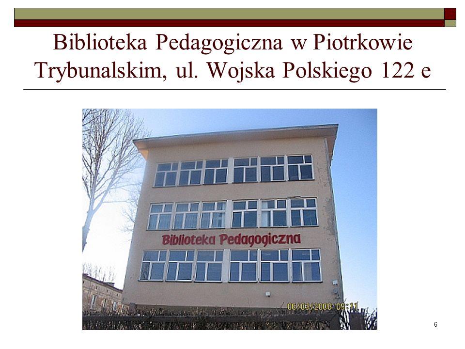 Biblioteka Pedagogiczna w Piotrkowie Trybunalskim, ul